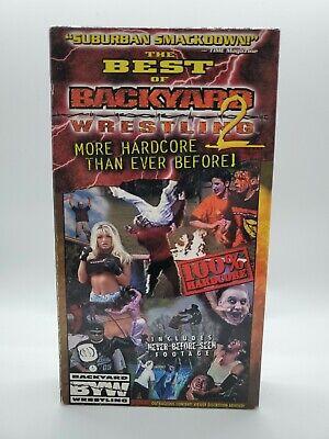 The Best Of Backyard Wrestling 2 VHS Rare VHTF ...