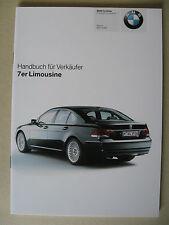 Verkäufer Handbuch BMW 7er E65 730 740 750 760 i Li 730d 745d Modelle 2005