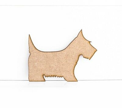 Scotty Dog Craft Shapes Embellishments 3mm MDF Wood Design Blank Project