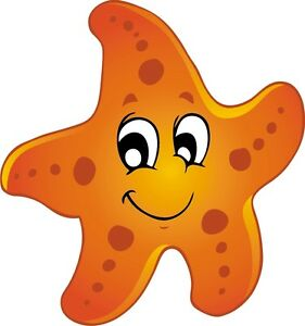 Starfish Sea Animal Cartoon Fun Sticker Decal Graphic