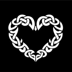 vinyl decal Celtic Heart