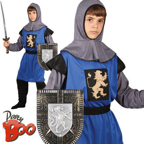 Medieval Knight Age 5 6 7 Kids Fancy Dress Boys Childrens Costume Child Outfit