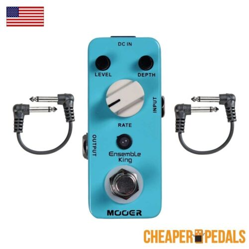 2 FREE Patch Cables FREE Shipping! NEW MOOER ENSEMBLE KING Analog Chorus Pedal
