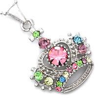 Princess Crown Tiara Necklace Pendant Charm Birthday Christmas Gift For Girls A3