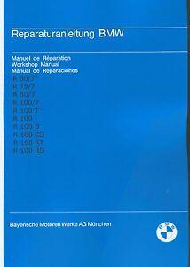 Werkstatthandbuch Reparaturanleitung Bmw R 100 80 75 60 7 Serie