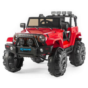 details about new xtreme 12v ride on car jeep suv 4x4 wrangler battery powered large jeep