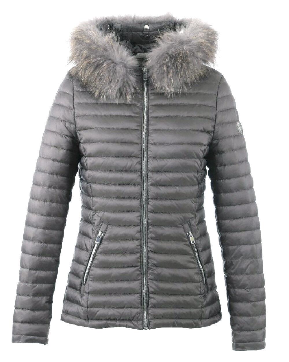 Détails sur OAKWOOD Doudoune veste nylon OAKWOOD femme JOLIE Gris Smoke 62909 taille XL