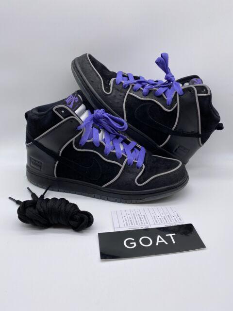 Nike Sb Dunk High Elite Black Purple Box 833456-002 Mf Doom Newcastle Size 10