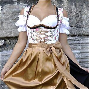 042... Dirndl Trachtenkleid 3tlg. Oktoberfest Gr.34 Bis 52 !!original Lifos!!