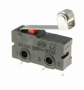 5-x-Roller-Lever-Actuator-Microswitch-SPDT-5A-Micro-Switch