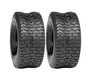 2 New 15x600 6 TURF TIRES 4 Ply Tubeless Lawn Mower Garden