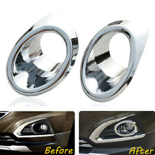 2x New Car Front Fog Light Lamp Cover Frame Trim ABS For Peugeot 3008 2013-2015