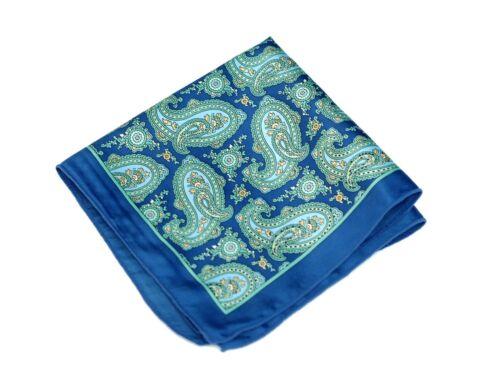 Prague Royal Blue Silk $75 Retail New Lord R Colton Masterworks Pocket Square