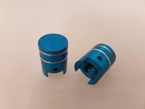 Bicycle//Motorbike//Car Tyre valve caps Blue Piston 2pkt POSH