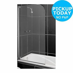 Ebay Shower Screen Home Half Framed Radius Clear Silver Shower Screen From The Argos