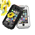 Shockproof Waterproof Aluminum Glass Metal Case Cover For iPhone 4/4S