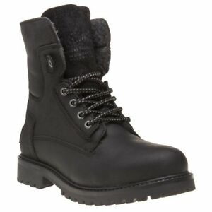 New-Mens-Wrangler-Black-Aviator-Leather-Boots-Lace-Up