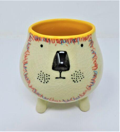 "Creative Co-Op DA9330A 3-3//4/"" Round Stoneware Animal Planter 4 Styles"