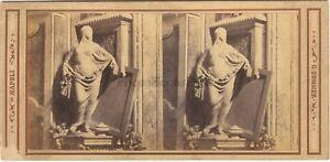 Foto-Un-Soprammobile-Da-Sommer-Napoli-Italia-Stereo-Vintage-Albumina-Ca-1865