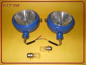 Ford-Tractor-Head-Light-Set-LH-RH-12-V-Blue