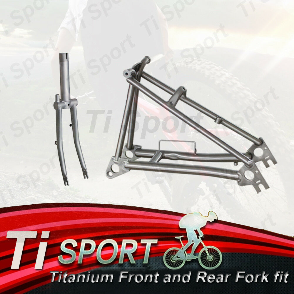 TiSport Titanium Rear Frame and Front Fork fit for Brompton Bike
