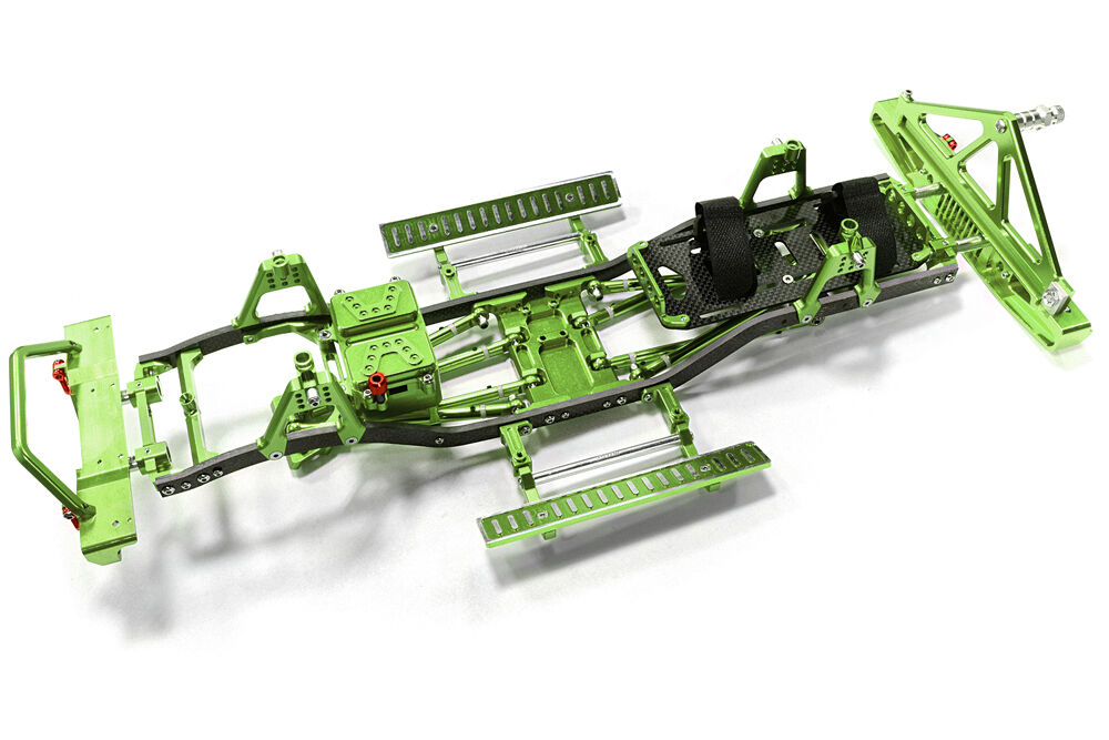 C26937GREEN Composite Ladder Frame Frame Frame Chassis Kit w Hop-up Combo for SCX-10, Jeep 69f9e5