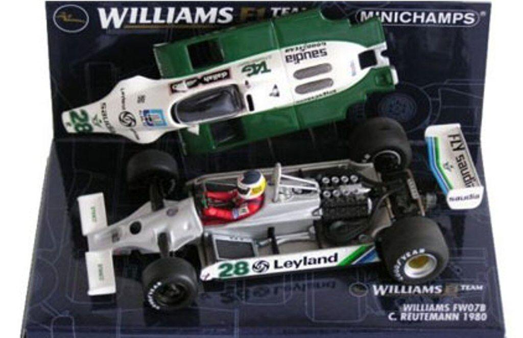MINICHAMPS 060009 090016 800028 WILLIAMS F1 model Webber  Rosberg Reutemann 1 43