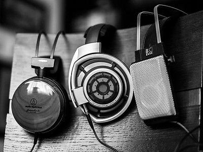 sennheiser audio technica akg Vintage Headphones Music Wall Print POSTER