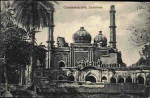 Lucknow-Asia-Indien-Asien-Vintage-Postcard-1910-Commissariate-Kuppel-Moschee