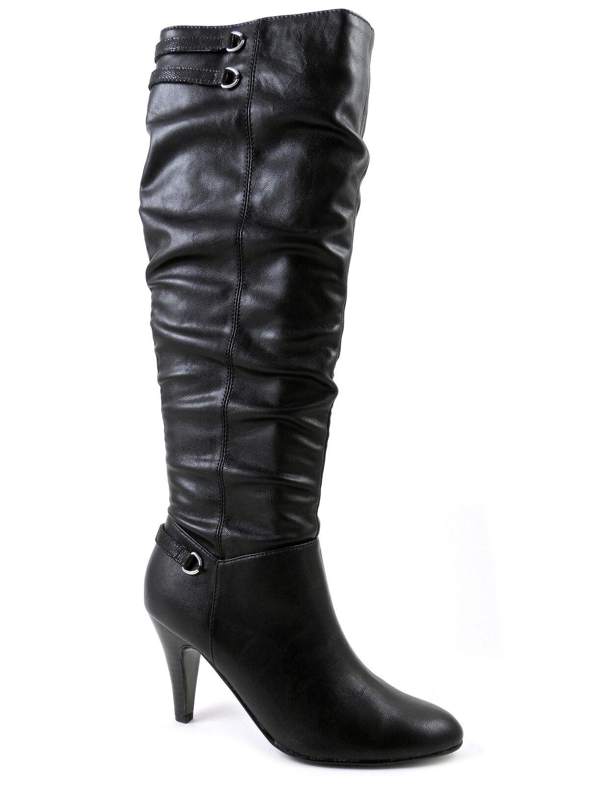 Alfani Women's Taye Knee-High Boots Black Leather Size 5 M