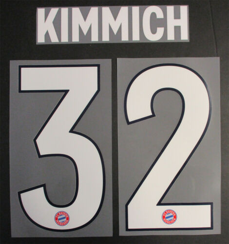 19 BAYERN MUNICH 3RD NAME AND NUMBER SET = PLAYER SIZE KIMMICH 32-18