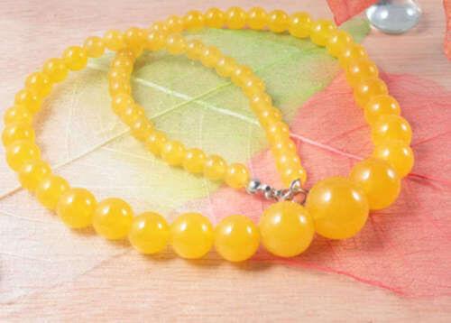 Genuine 6-14 mm Naturel Fashion Amérique du Sud Topaz perles rondes environ 45.72 cm collier 18 In