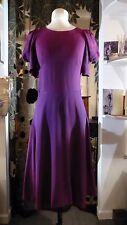 Original Vintage 1970's BIBA Backless Purple Maroon Dress 8 - 10