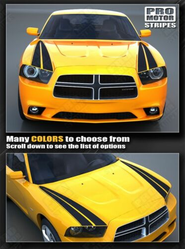 Dodge Charger 2011-2014 Racing Hood Side Accent Stripes Decals Choose Color