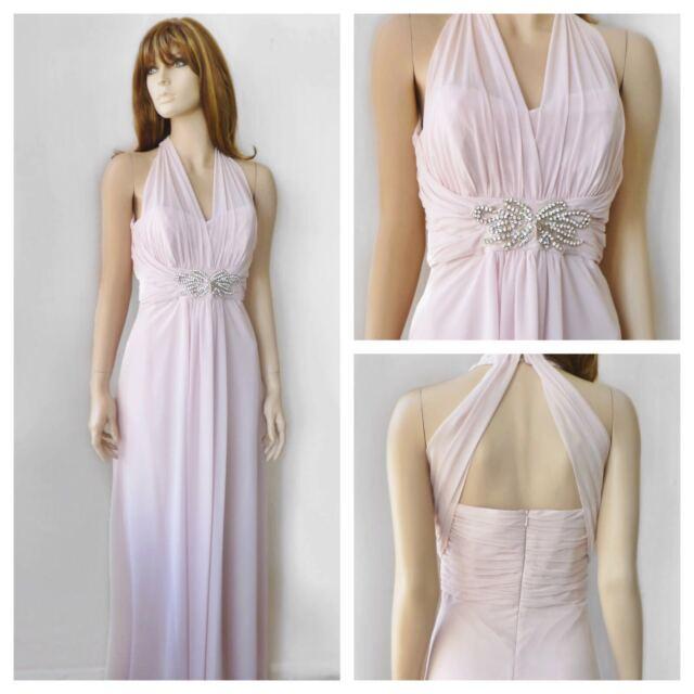 BNWT Jenny Packham Pale Pink Maxi Bridesmaid Ball Evning Cruise Dress