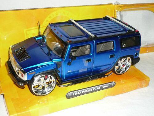Hummer H2 H 2 Suv Blau Van 1//24 Jada Modellauto Modell Auto