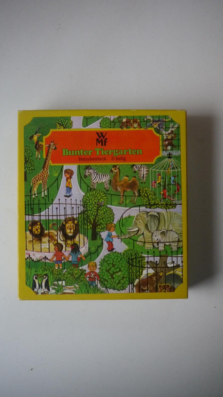 WMF WMF WMF Bunter Tiergarten BabyBesteeck - ca. 70er 12a16f