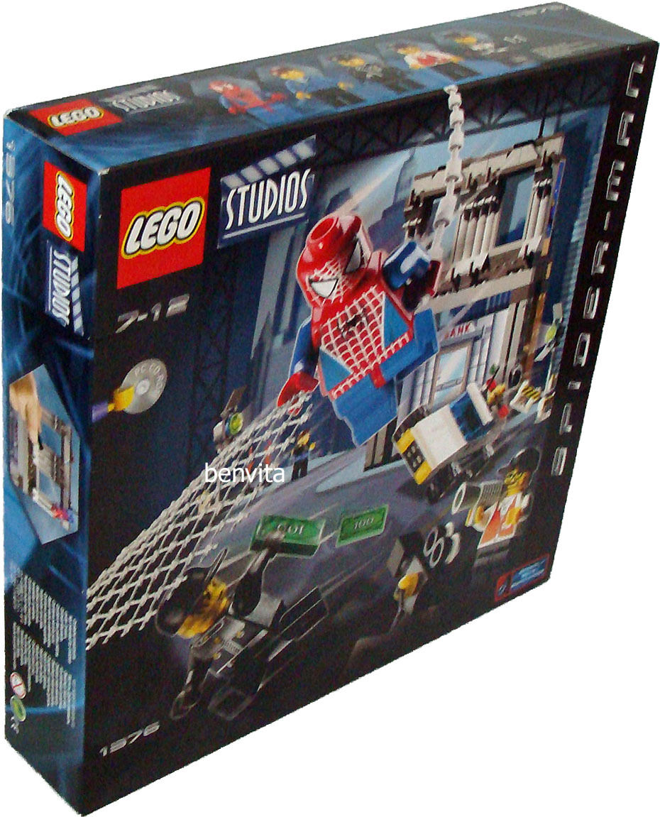 Lego® Studios 1376 - Spider Man Action Studio 244 Teile 7-12 Jahren - Neu
