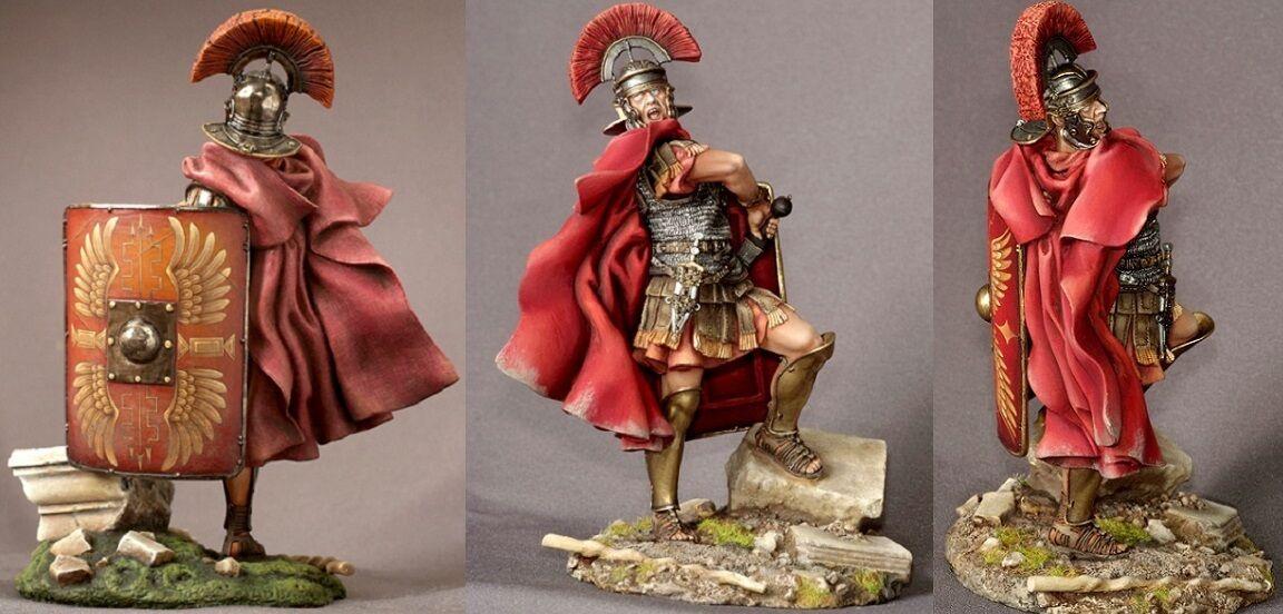 Tin leksakssoldater ELITE målade 90mm Roman Centurion, I c. A.C.