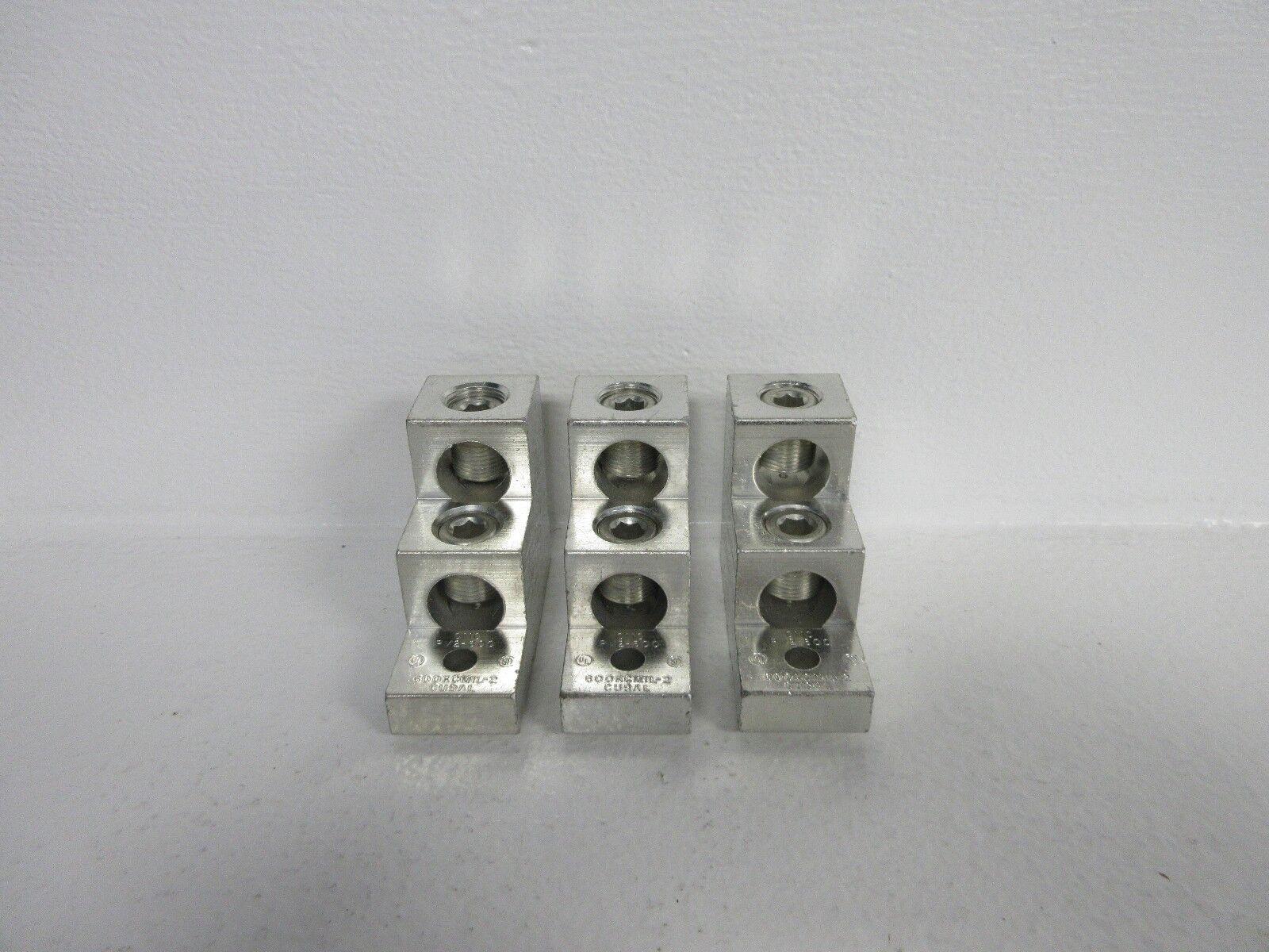 LOT OF 3 CMC PV2-600 NEW-NO BOX ALUMINUM LUGS 600KCMIL-2 PV2600
