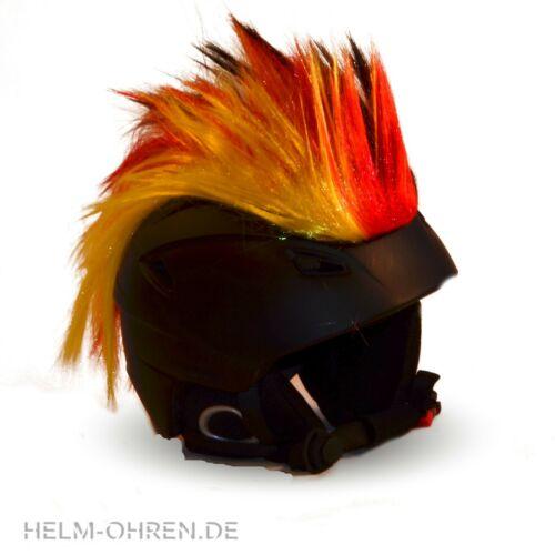 Helmirokese Iro// Irokese// Helmaufsatz f Motorradhelm Radhelm Deutschland Fan WM