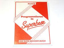 Programmieren in Superbase   Data Becker Buch für Commodore (Z2G023)