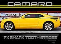 2010 Chevrolet Camaro Shark Tooth Strobe Side Stripe Kit Top Quality 3m Stripes