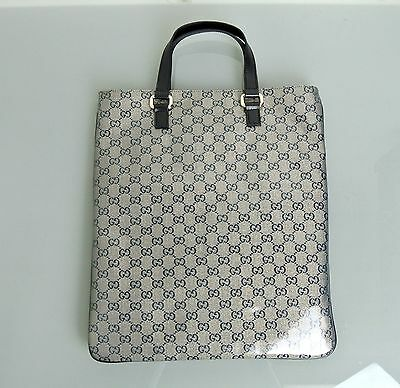 NEW Authentic GUCCI Flat Tote Laptop BAG Tote Top Handle Handbag, 272347