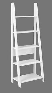 Image Is Loading Cosmo White Bookcase Shelving Unit Ladder Style Bookshelf