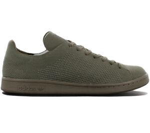 Adidas-Originals-Stan-Smith-Pk-Primeknit-Sneaker-Uomo-S82155-Marrone-Scarpe