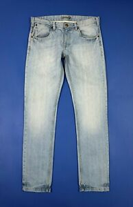 Hart-and-bros-jeans-usato-uomo-W34-tg-48-slim-denim-azzurro-blu-boyfriend-T5680