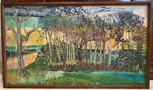 Artist John Maakestad (1928-2012), Circa 1965 Unframed Oil on Canvas Painting