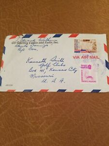 Dominican-Republic-Stamps-Air-Mail-Postal-History-Cover