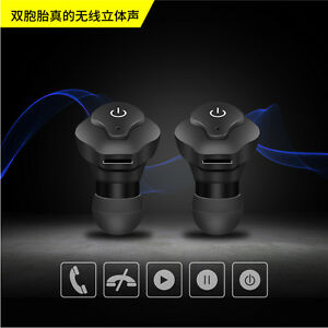 Mini True Wireless Bluetooth Twins Stereo In-Ear Earphone Headphone Headset New